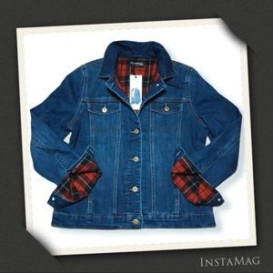 PARASUCO JEANS Flannel Lined Denim Jacket
